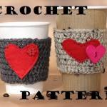 Coffee Cozy Crochet Pattern..
