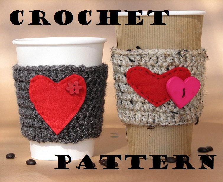 Coffee Cozy Crochet Pattern PDF,Coffee Sleeve, Tea Cozy, Cup Warmer, Crochet Cozy,Easy, Great for Beginners, Pattern No. 5