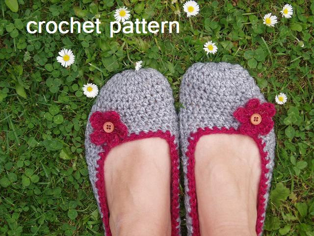 Pattern Adults Adult Slippers Crochet Pattern